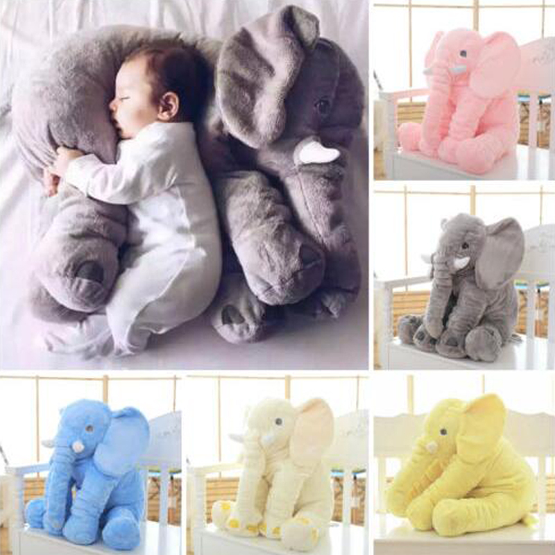 45cm Long Nose Elephant Doll Pillow Soft Plush Stuff Lumbar Pillow For Baby Kids Toys