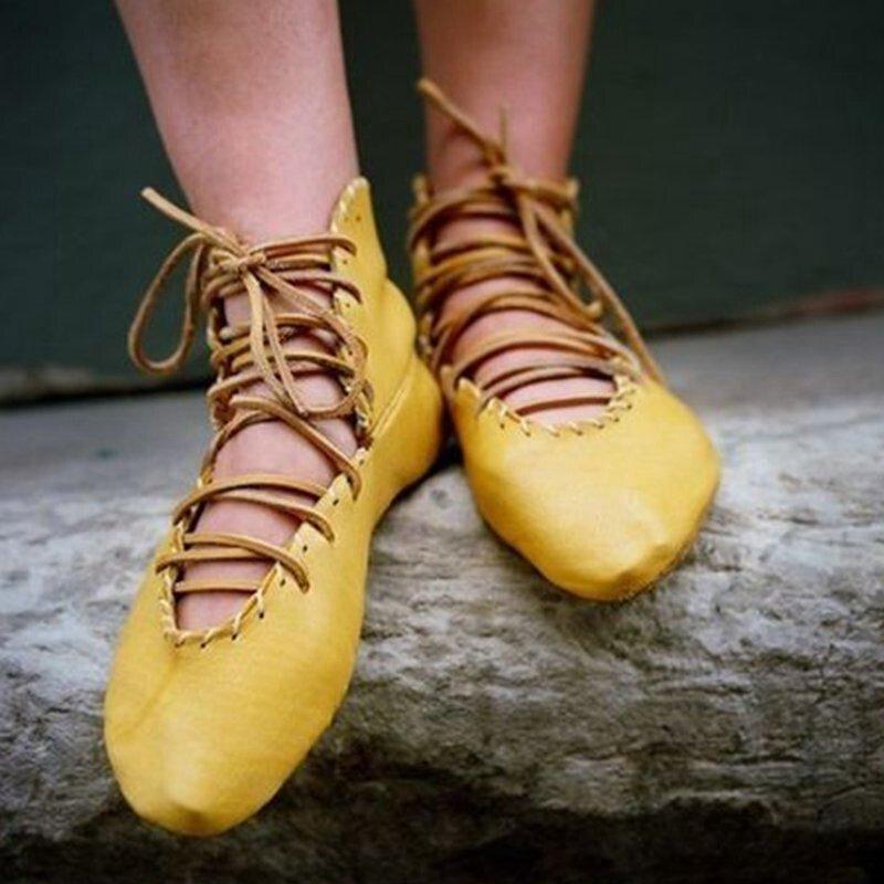 Shujin Delle Donne Di Colore Solido Sandali Piatti Di Cuoio Casual Cinturino Alla Caviglia Fibbia Scarpe Fresco Piatto Scarpe Da Spiaggia Inferiori Sandalias De Mujer Costruzione Robusta