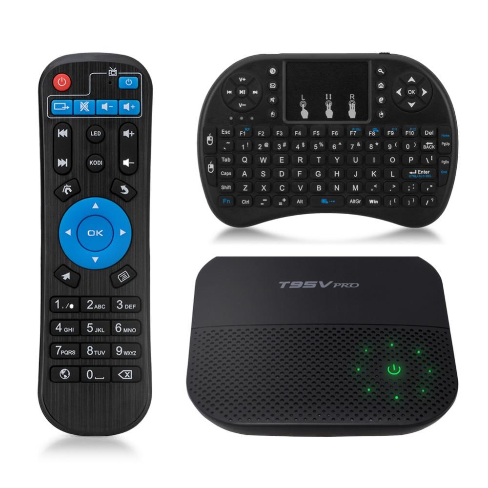 T95V PRO Android  TV BOX  S912 Amlogic Octa Core  2GB/16GB Dual-band WiFi Sopport 4K HD Bluetooth 4.0 Mini PC TV Box zidoo x6 pro 4k android tv box octa core 2g 16g dual band wifi hdmi smart box