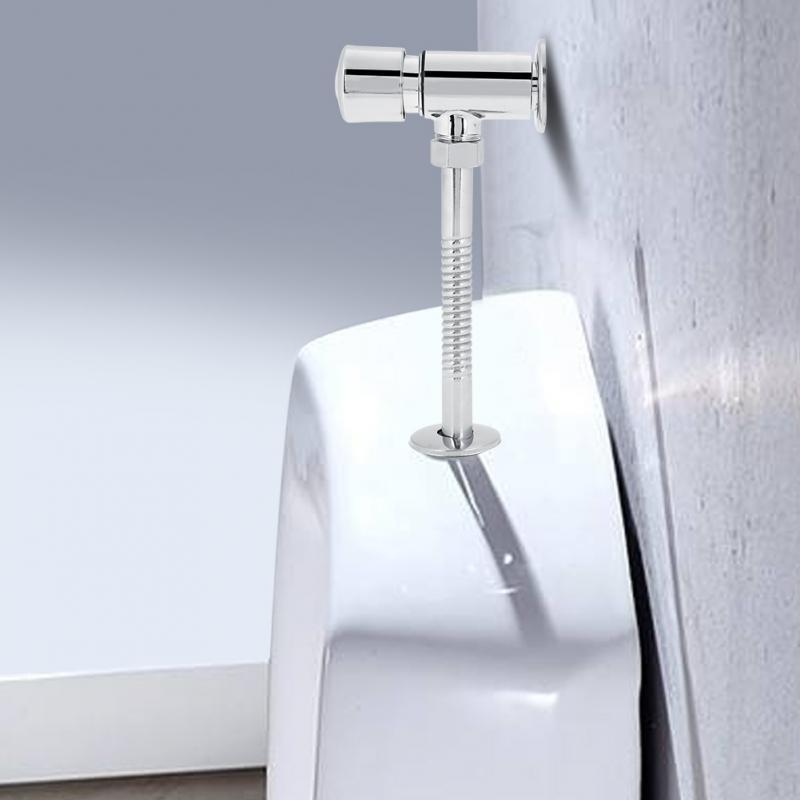Sanitär Neue Dn15/20mm Silber Durable Zink-legierung Flush Ventil Büro Hotel Bad Wc Hand Drücken Spülung Werkzeuge