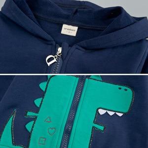 Image 4 - 3 шт., комплект одежды с длинным рукавом для мальчиков и девочек 1 4 года