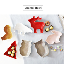 1PC Animal Series Cartoon Creative Ceramic Tableware Animal Shape Bowl Snack Bowl Fruit Salad Bowl Candy Bowl Ceramic Cutlery