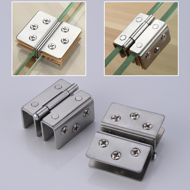 10mm-13mm Adjustable 180 Degree Dual Ways Aluminum Glass Clamp Clip Door Hinge