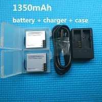Batería Original SOOCOO accesorios 1350 mAh con cargador para Cámara de Acción sjcam M10 C30R SJCAM SJ4000 SJ5000X H9 H8 H6S THIEYE