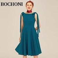 Королевский синий Мода Тонкий Слово большая бабочка заниженной линией плеч платье