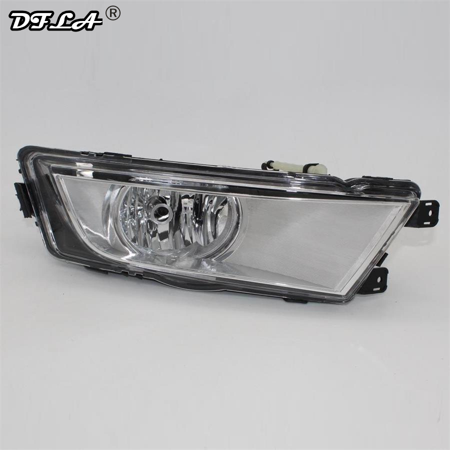 Right Side For Skoda Octavia A7 Sedan Octavia A7 Combi 2013 2014 2015 2016 2017 Car-styling Front Halogen Fog Light Fog Lamp right side for vw polo vento derby 2014 2015 2016 2017 front halogen fog light fog lamp assembly two holes