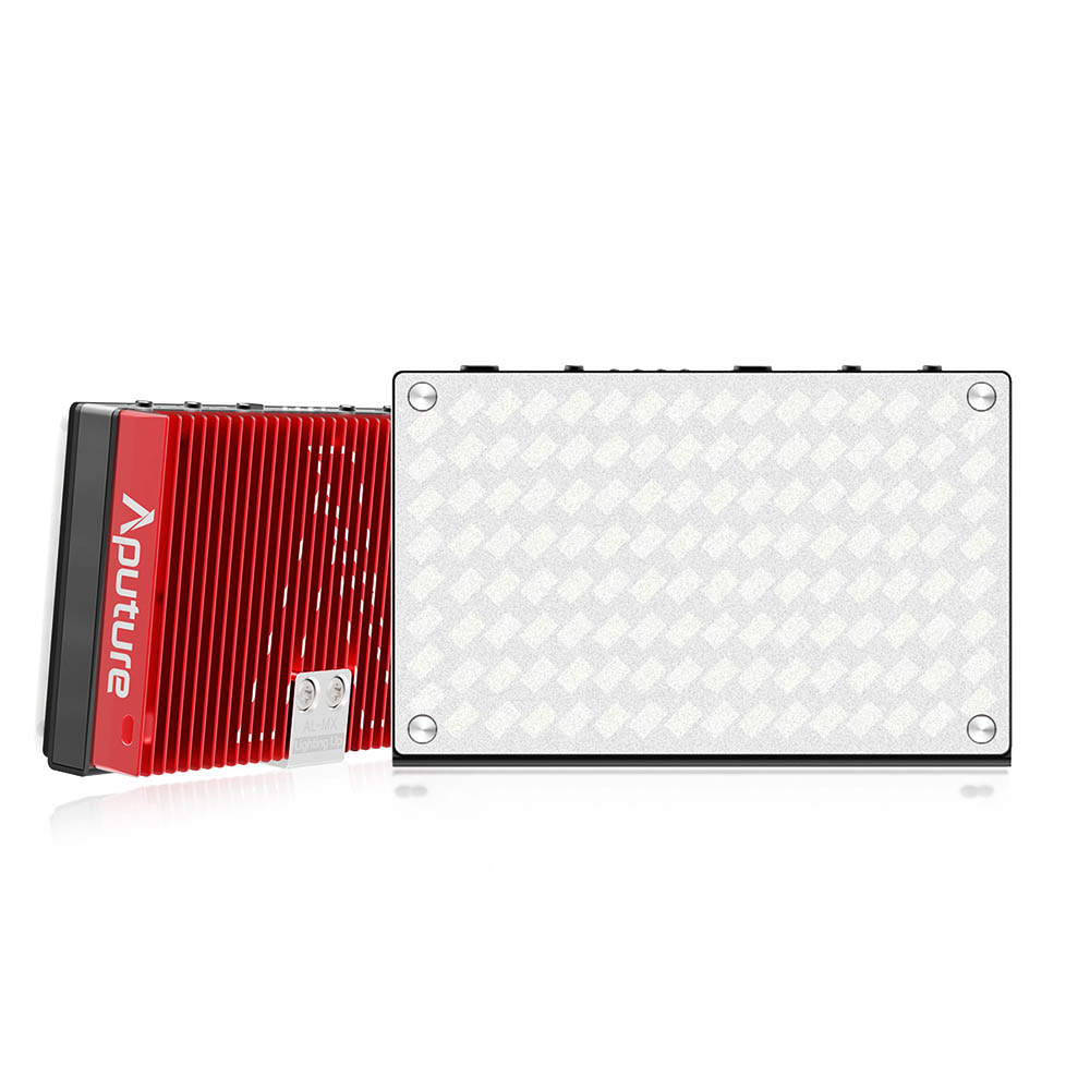 Aputure Amaran AL MX Small Pro LED On Camera Video Light TLCI/CRI 95 2800 6500K Metal Pocket Sized Light with Built in Battery