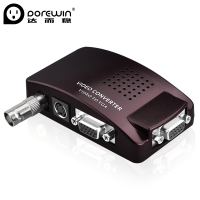 Dorewin BNC AV S Video To VGA TV Signal Converter Adapter S Video To VGA Switch