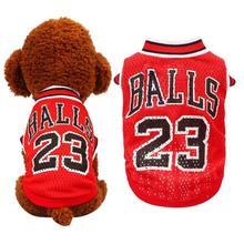 Number 23 Baloncesto perro uniformes negro rojo verano lindo perro gato ropa  transpirable ropa deportiva chaleco PET equipo XXS-. d23acbbeab2f7