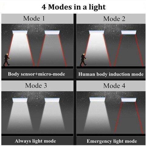 movimento radar 800lm 48 lampada led auto