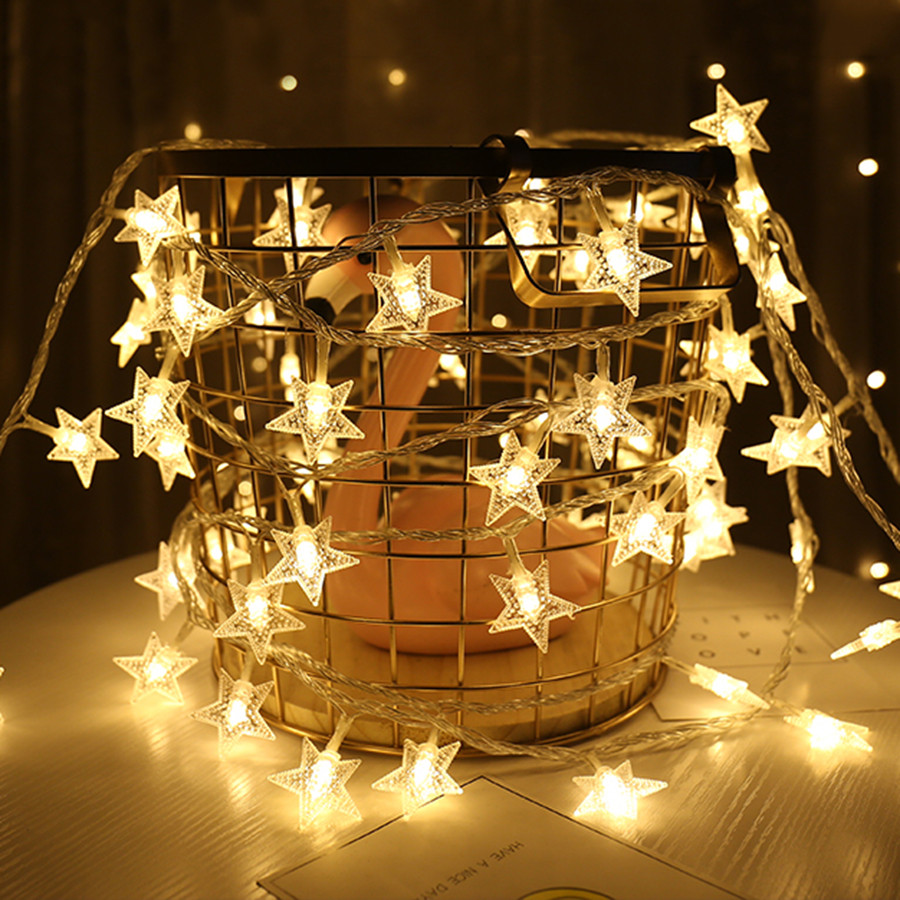 Thrisdar USB / AA Battery Powered 6M 40 Star Shape LED String Light Christmas Garland Outdoor Garden Party Wedding Light