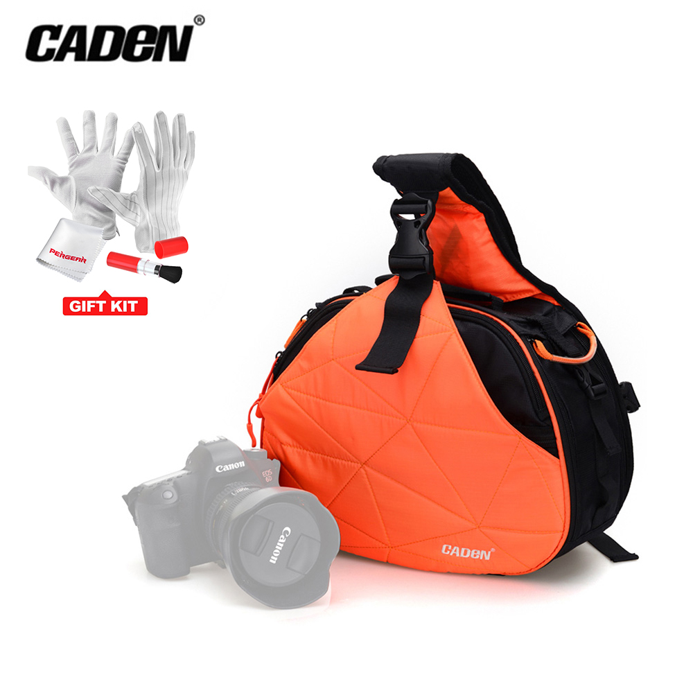 цена на CADeN K2 Sling Shoulder Cross Camera Bags Video Photo Digital DSLR Case Waterproof with Rain Cover for Dslr Sony Nikon Canon