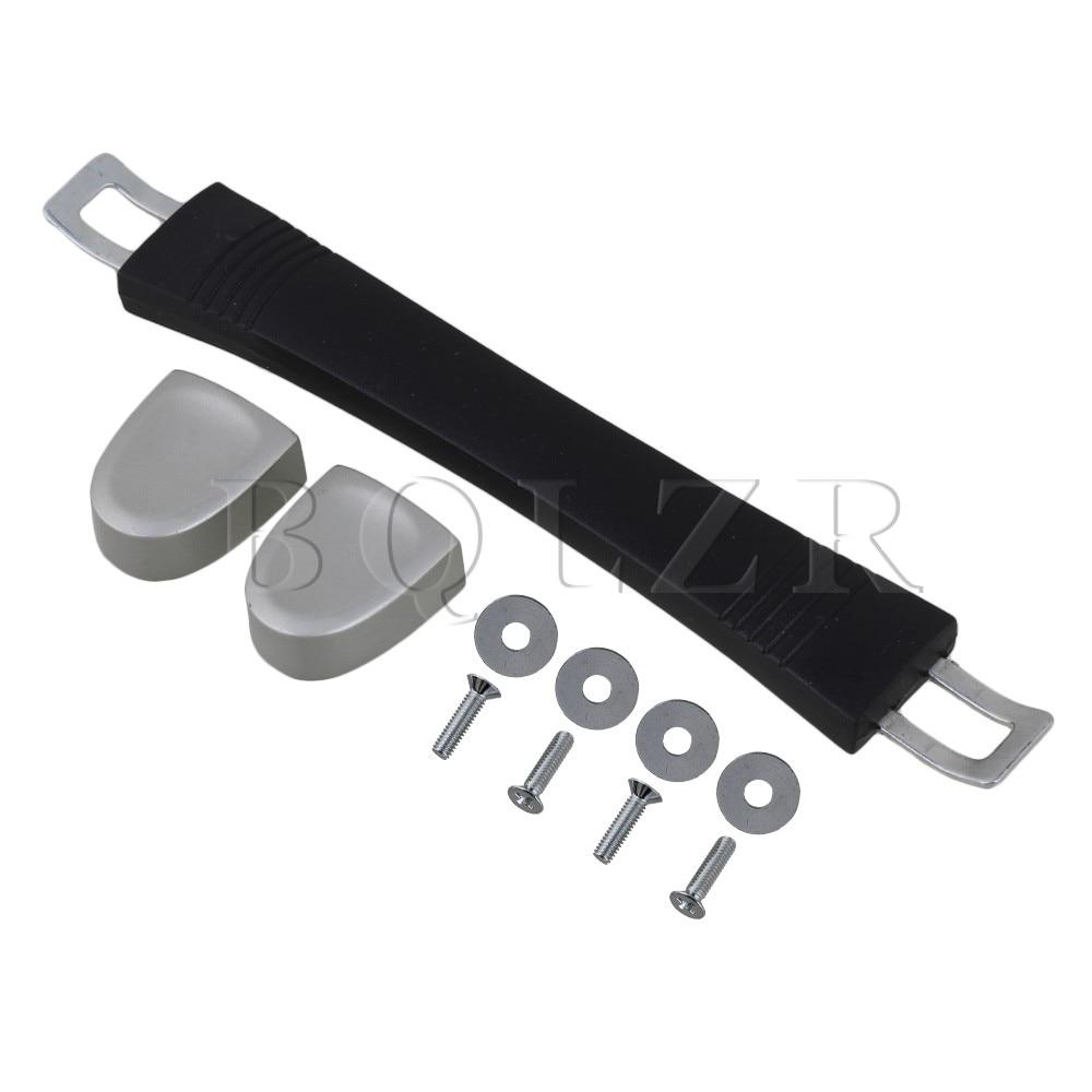 5.7 Black Plastic Replacement Luggage Box Carry Handle w/Screws BQLZR 2pieces diy bqlzr 9 1cmx10 7x4 9cm black plastic left