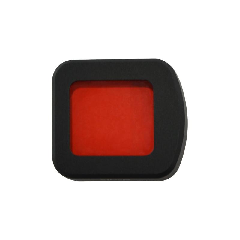 dwaterproof água habitação caso lente filtro vermelho