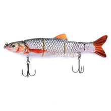 lure fishing 16cm/38.9g crankbait Fishing Tackle 5 Segment fishing bait popper fishing peche hard lure 6# Free Shipping