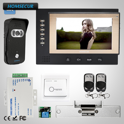 HOMSECUR 7 Wired Video&Audio Home Intercom+Dual-way Intercom for Home Security: TC021-B Camera (Black)+TM701R-B Monitor (Black)HOMSECUR 7 Wired Video&Audio Home Intercom+Dual-way Intercom for Home Security: TC021-B Camera (Black)+TM701R-B Monitor (Black)