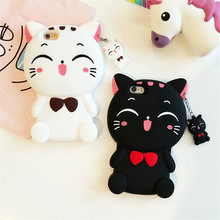Funny 3D Cartoon Animal Plutus Cat Soft Silicon Rubber Cover For iPhone 7 Plus 5 5S 6 6S Plus Phone Cases Protector Coque Funda