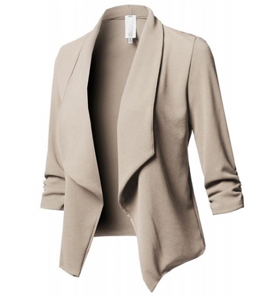 Blazer Mujer New Flying Roc 2019 Women Sleeve Blazer Girls Casual Slim Feminino Office Lady Jacket Suit Blaiser Para Mujeres