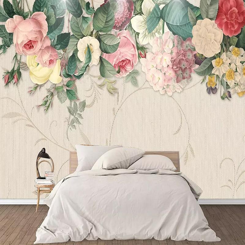 Stoff & Textile Wandbekleidungen Freundschaftlich Nordic Vintage Hand Gemalt Aquarell Blumen Wandmalereien Tapete Wohnzimmer Tv Sofa Home Decor Wand Tuch Wasserdichte Fresko Durch Wissenschaftlichen Prozess