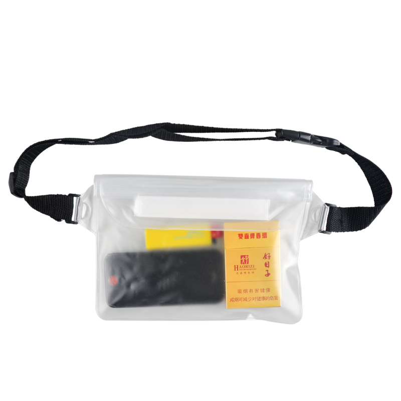PVC Waterproof Swimming Bag Dry Waist Pack Bag Adjustable Drifting Boating Surfing Pouch For IPhone Camera MP3 Cash Passport