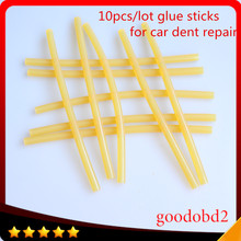 Car tool 10pc/set Hot Melt Glue Sticks 11mm*265MM Melt Adhesive PDR Glue Stick Work with Hot Glue Gun Hand Tools Set Ferramentas newacalox eu plug hot melt glue gun 10 pcs glue sticks 4 pcs fixed clip carving knife set a4 cutting mat diy combination set