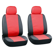Universal Seat-cover Artificial PU Leather 2 Pieces Front Car Seat Covers Automotive Interior Decoration(China)
