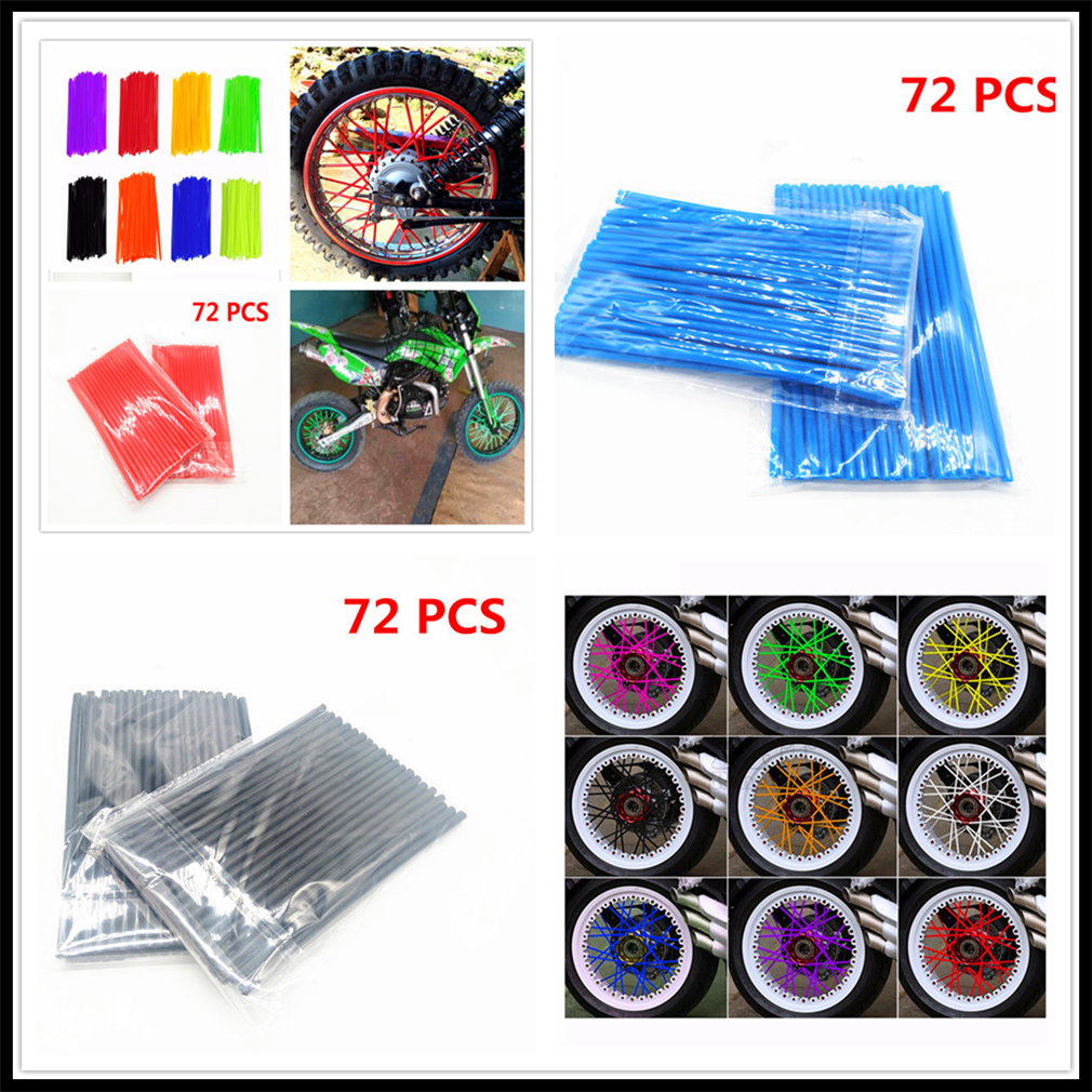 Motorcycle Motorcross Pitbike dirtbike Wheel Spoke Cover Rim Protector Wrap for YAMAHA WR250R X SEROW225 250 TTR125 L E TTR250 image