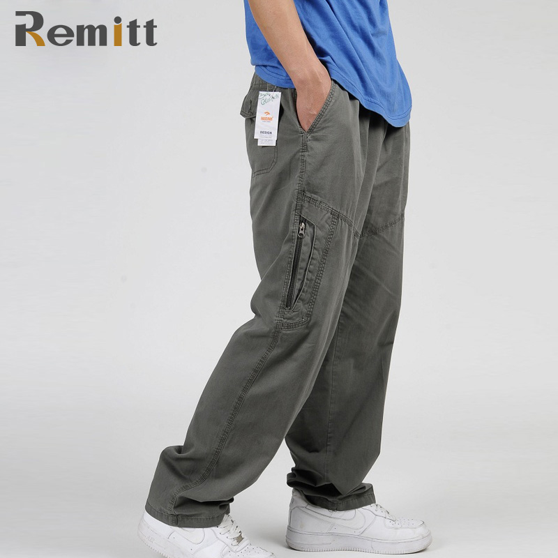Men Spring Overall Workman Mangoes Plus Size Cargo Pants XXXL 4XL 5XL 6XL Baggy Army Green