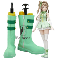Anime Love Live! Start dash!! Minami Kotori Cosplay Party Shoes Green Boots Custom Made
