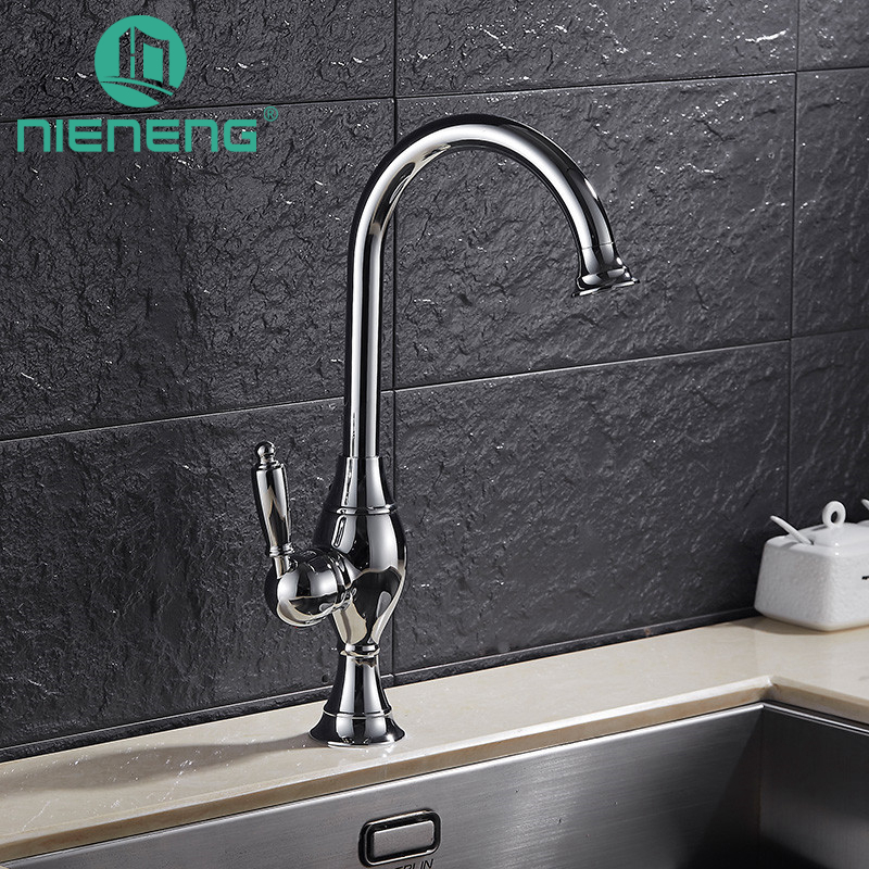 Nieneng Luxury Kitchen Supplies Polished Taps Items Swivel Sink Mixer Drinking Water Useful Kitchen Faucet Tools ICD60416 nieneng black taps swivel sink mixer drinking water kitchen faucet 3 way water filter tap with water purifier handle icd60371