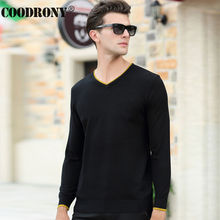 High Quality Knitted Cashmere Sweater Men Brand Clothing V-Neck Pullover Men Wool Sweaters Pure Color Pull Homme Plus Size 66172