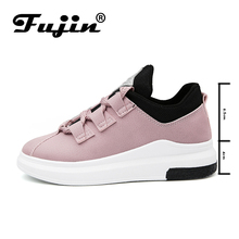 Fujin Brand 2018 women new arrival sneakers Breathable Round Toe Casual Shoes Student Platform Shoes Flats  Lace Up Ladies Shoe