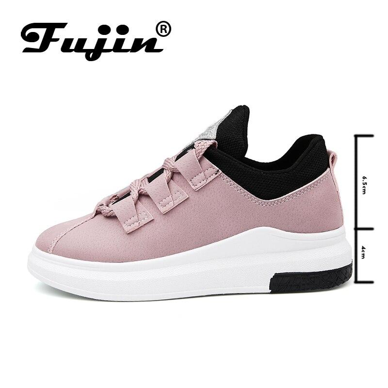 Fujin Brand 2019 Ladies Shoes Platform Shoes Sneakers Women Autumn Shoes  For Women Flats Lace Up Breathable Sport Casual #4