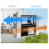 4 дюймов 6 дюймов Встроенный воздуховод двухсторонний поток воздуха переключатель свежего воздуха Система вентилятор HVAC кондиционер венти
