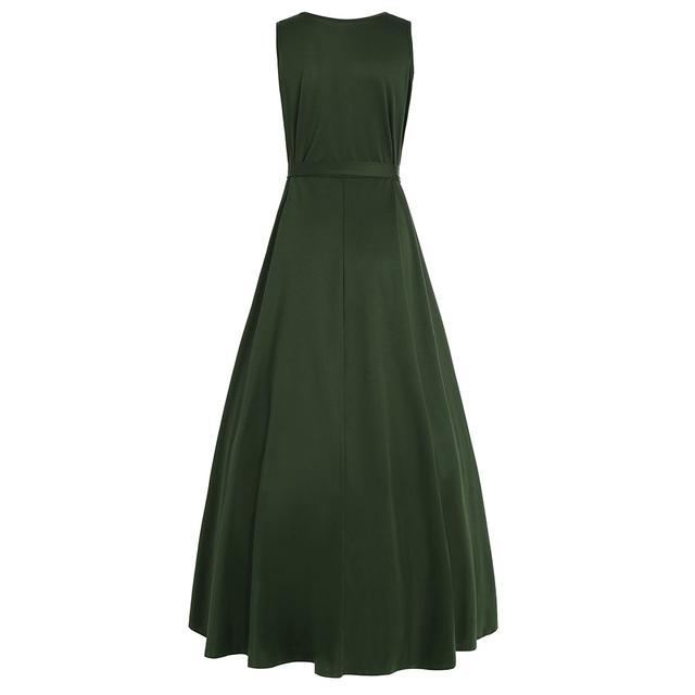 Plus Size V Neck Asymmetrical Sleeveless Women Big Size Summer Dress