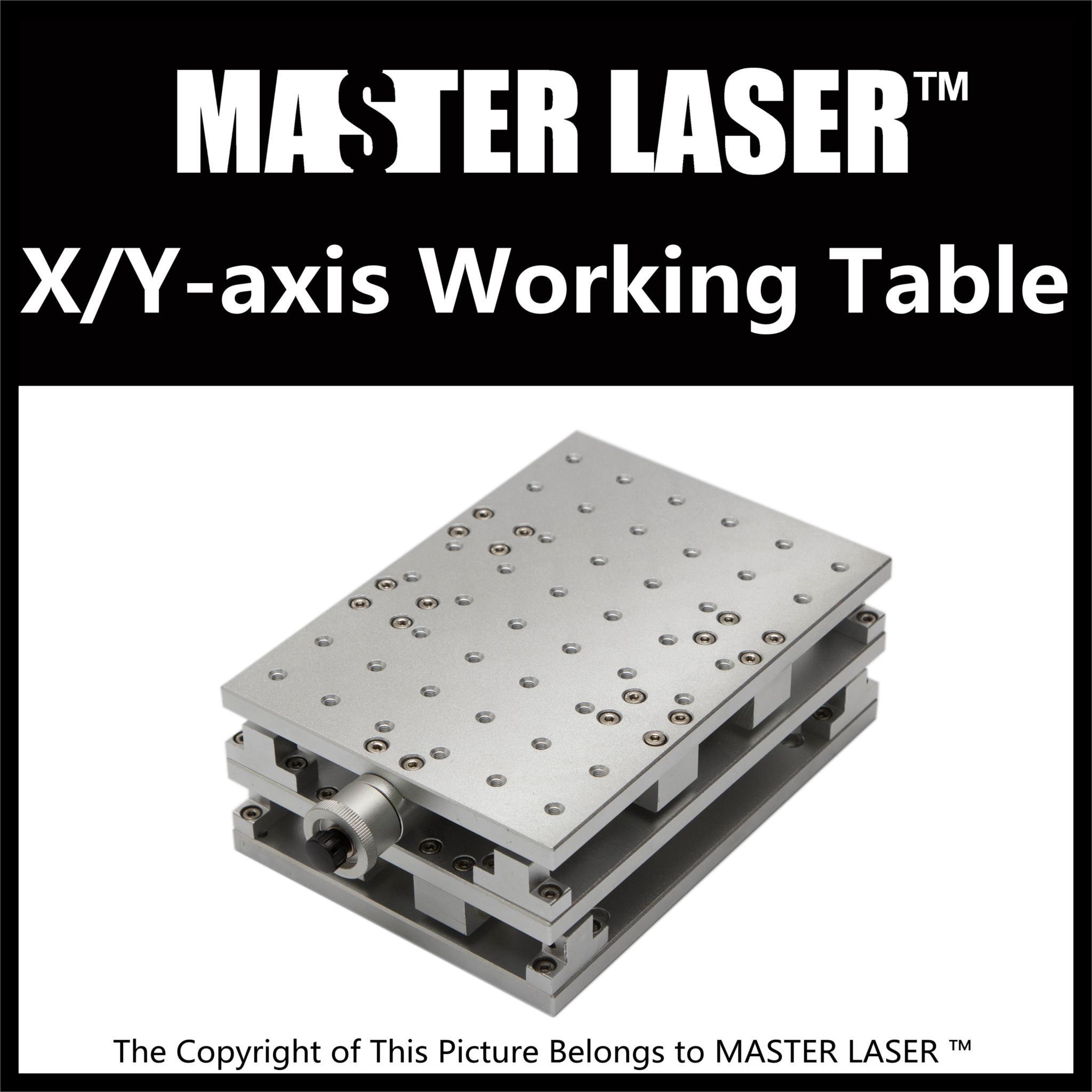 1064nm Fiber font b Laser b font Marking Engraving Machine 2 Axis Moving Table 300 220mm