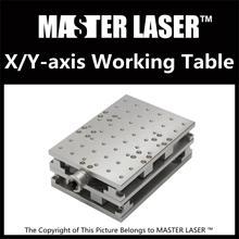 1064nm Fiber Laser Marking Maszyna Do Grawerowania 2 Osi Moving Table 300*220mm Rozmiar Pracy Przenośne Szafy Przypadku XY stół