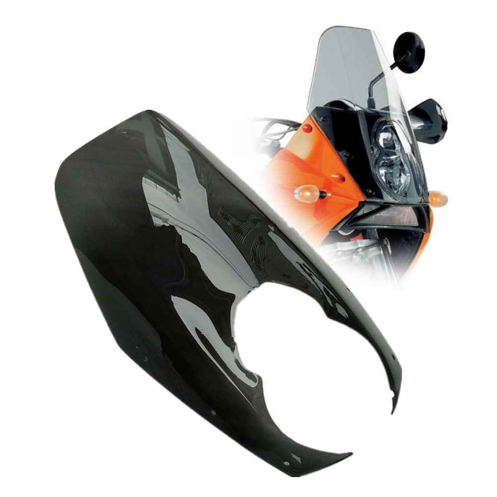 Motorcycle Smoke Windshield Windscreen Front Wind Deflector Airflow For KTM 950 990 S/R Adventure 2004-2013 2005 2006 2007 2008