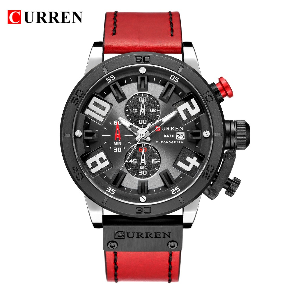 Military Watches Men Quartz CURREN Top Brand Analog