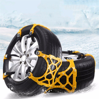 3Pcs/set Car Tyre Winter Roadway Safety Tire Snow Adjustable Anti skid Safety Double Snap Skid Wheel TPU Chains