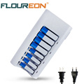 Original C808W 8 Slots Battery Charger with Indicator Light for AA / AAA NiCd NiMh Rechargeable Batteries US / EU Plug