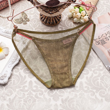PANTIES Women Net yarn Elastic Cowboy Lace Girl Briefs Transparent Sexy Female Panties 2019 Breathable Underwear for Young GIRL