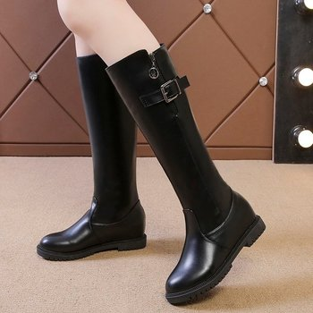 2019 was thin European winter boots new boots long boots with knee-length boots large with suede