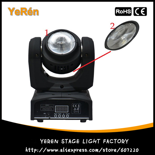 New Arrival Two-Side Led Beam Moving Head Light 2x10W RGBW Cree LED DJ Light DMX Stage Lighting Effect