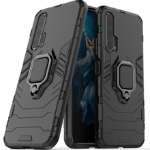 Honor 20 Pro Shockproof Armor Case For Huawei Honor 20 Pro Stand Holder Car Ring Phone Cover for Honor20 Pro 2019 YAL L41 shell yal l41 yal l21 honor 20 pro fashion magnetic business case for huawei honor 20 pro artificial leather wallet flip stand cover