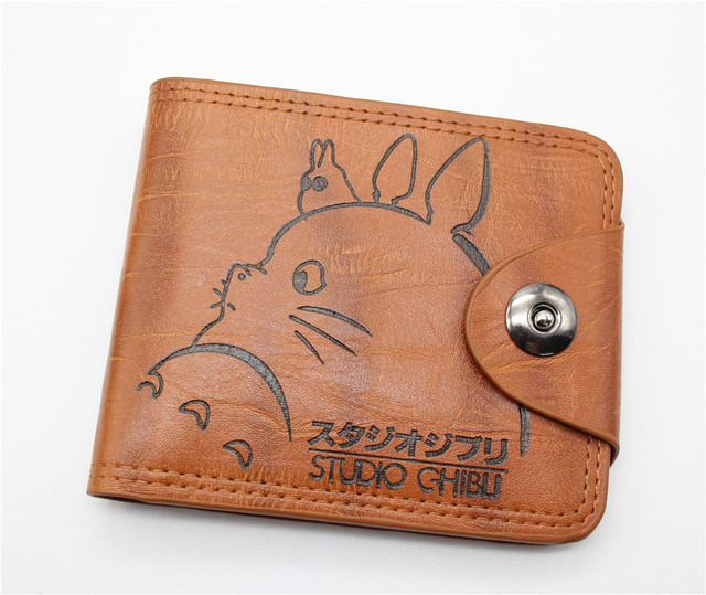 My Neighbor Totoro – Brown Leather Short Billfold Wallet