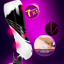 Mans Masturbator Intelligent Adjustable Voice Aircraft Cup Fully Automatic Electric Clamp For Adult Powerful Vibrator Massager