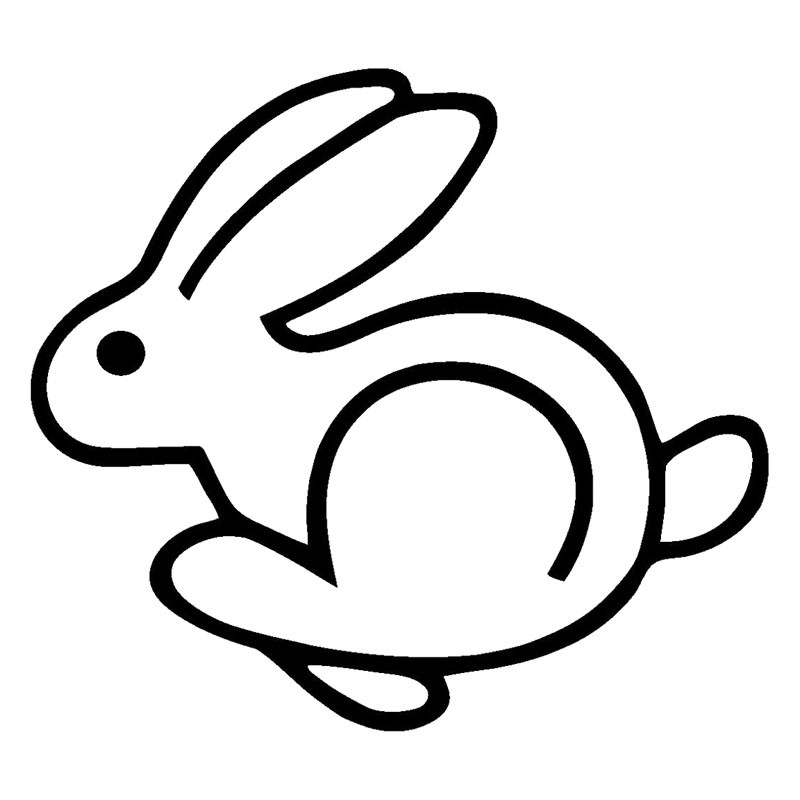 HotMeiNi 14cmx13cm Rabbit Racing Personality Vinyl Stickers Car Accessories Decal Black/ ...