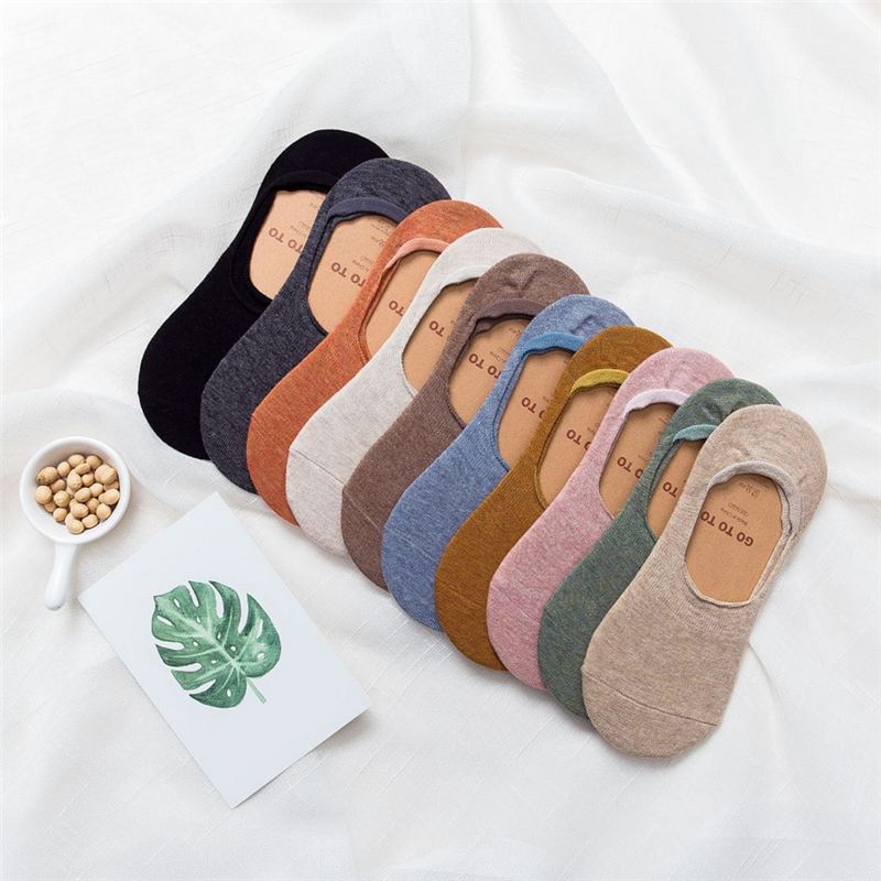 Invisible Short Woman Sweat Summer Comfortable Cotton Bamboo Girl Women's Boat Socks Ankle Low Female Invisible