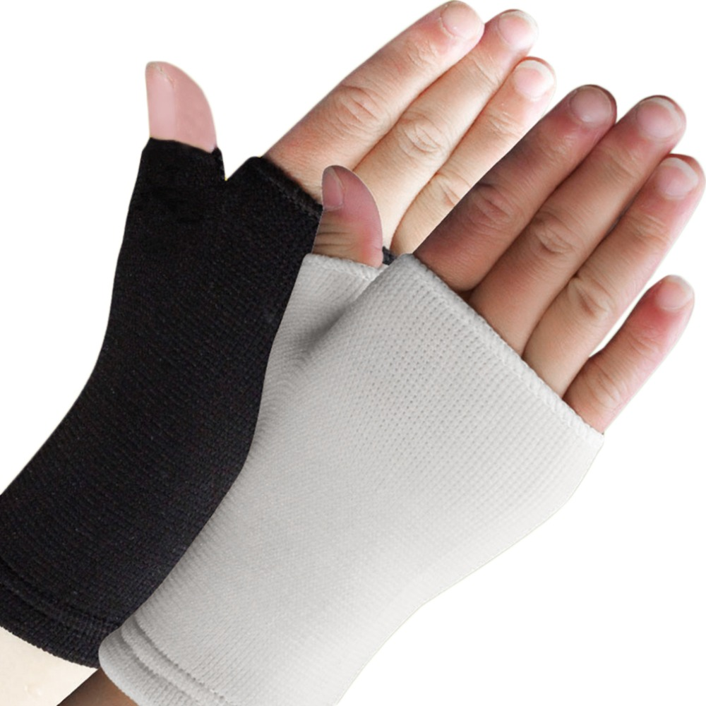 1Pair 16*9cm Men Women Thin Breathable Half Finger Gloves Elastic Wrist Supports Arthritis Brace Sleeve Absorb Sweat Wearing